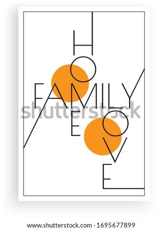 home  family  love  vector