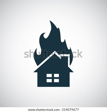 home fire icon  on white