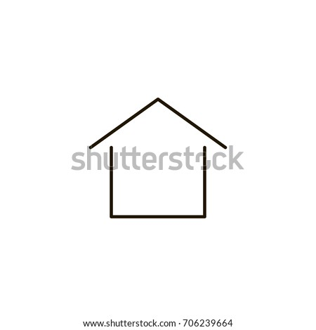 Home flat icon. Single high quality symbol of line house vector for web design or mobile app. Color signs of contact for design logo. Single pictogram of home button on white background