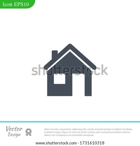 Home flat icon. vector Illustrator Eps.10
