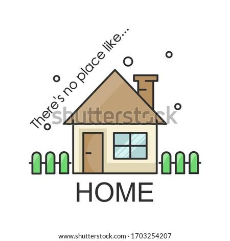home flat style illustration