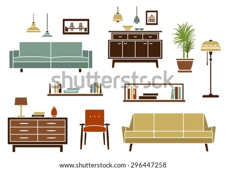Free vector furniture and home accessories Download Free Vector