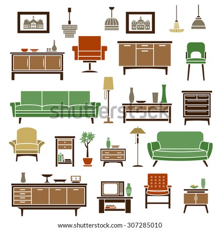 home furniture elements with
