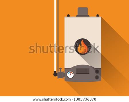 Home gas furnace ストックフォト ©