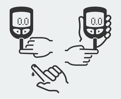 Home glucose meter vector illustration