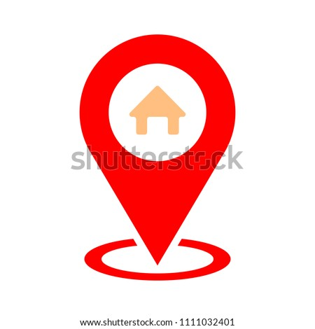 home gps - map pointer, map pin icon - arrow pin, compass location