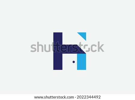 Home H Letter Logo and Real Estate Design Vector. House and Creative Alphabet Letters icon Illustration Stock fotó ©