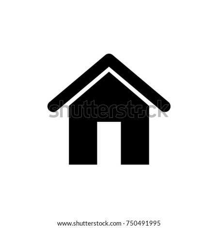 home homepage building house simple icon black on white