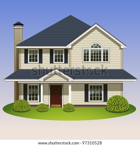 home icon-5 - stock vector