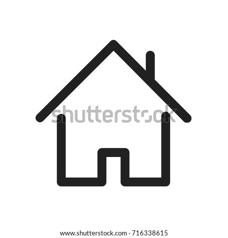 home icon. estate icon. Premium house icon or logo in line style. High quality sign and symbol on a white background. Vector outline pictogram
