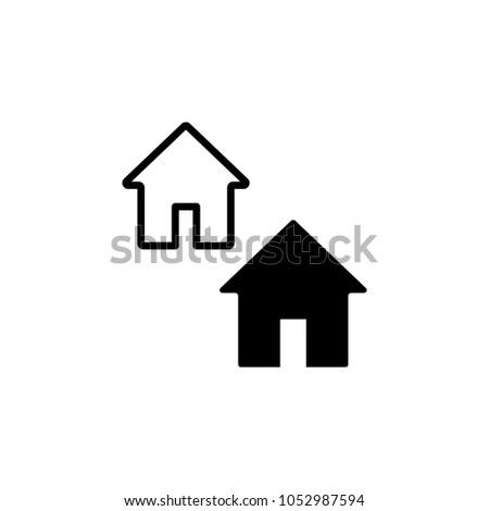 Home icon. Home vector icon. Home web icon.