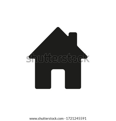 Home icon. House symbol illustration vector to be used in web applications. House flat pictogram isolated. Stay home. Line icon representing house for web site or digital apps.