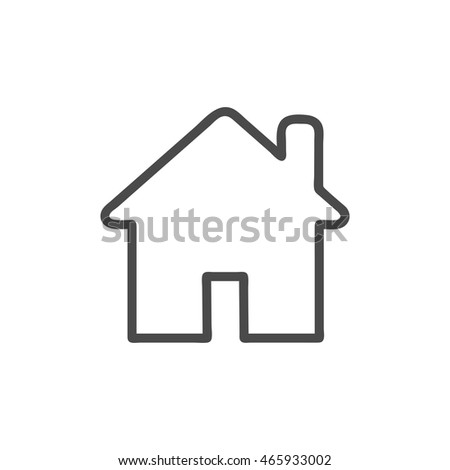 Home icon isolated on background. Modern flat pictogram, business, marketing, internet concept. Trendy Simple vector symbol for web site design or button to mobile app. Logo illustration