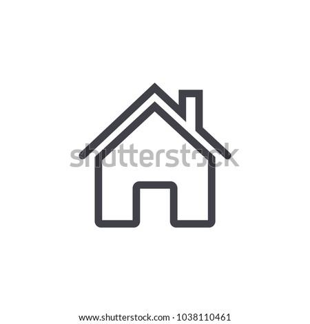 home icon , line design