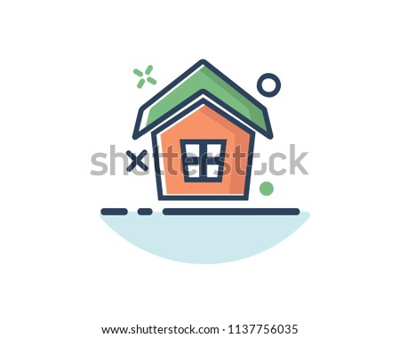 home icon line filled design illustration,designed for web and app