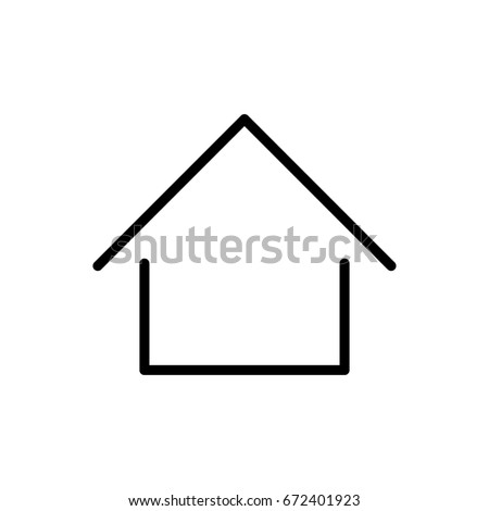 Home icon or logo in modern line style. Black outline pictogram for web site design and mobile apps. Vector illustration