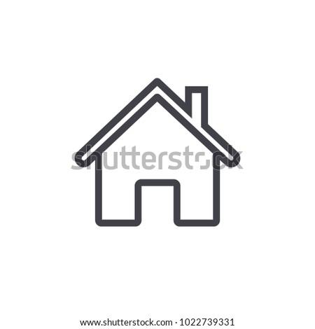 home icon outline design