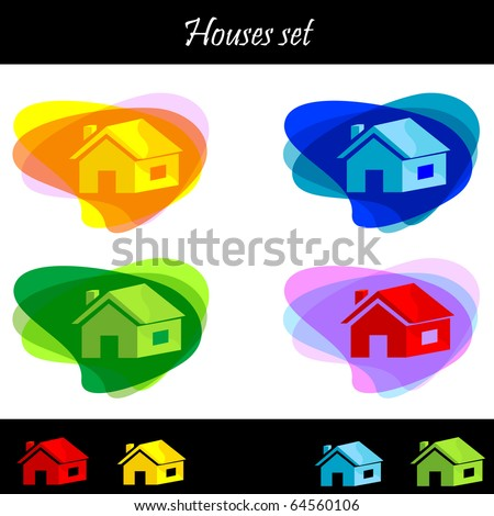 home icon set 02. Vector illustration.