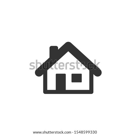 Home icon template color editable. Home symbol vector sign isolated on white background. ストックフォト ©