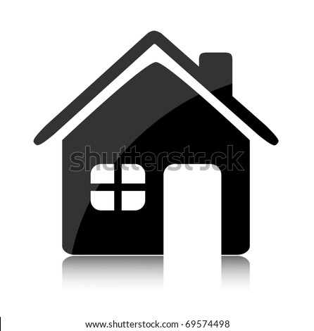 Home icon. Vector - stock vector