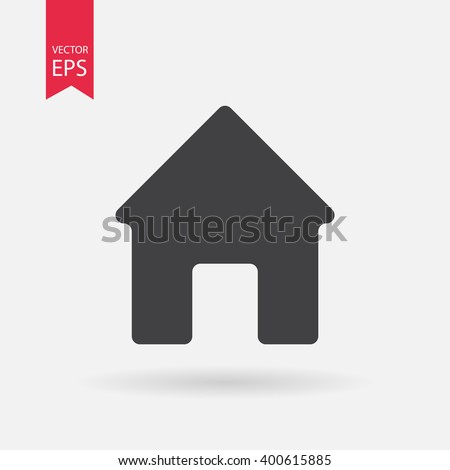 Home icon vector. House. Enter, welcome concept. Building sign Isolated on white background. Trendy Flat style for graphic design, logo, Web site, social media, UI, mobile upp, EPS10
