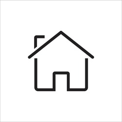 home icon vector sign symbol isolated