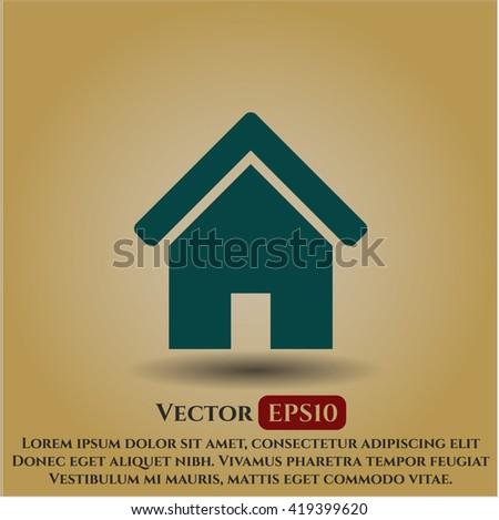 home icon vector symbol flat eps jpg app web concept website