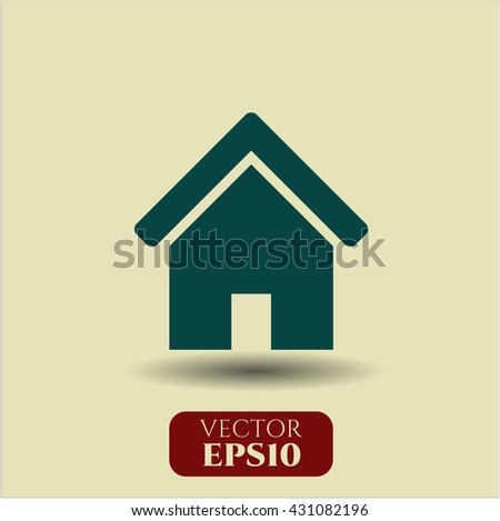 home icon vector symbol flat eps jpg app web concept website