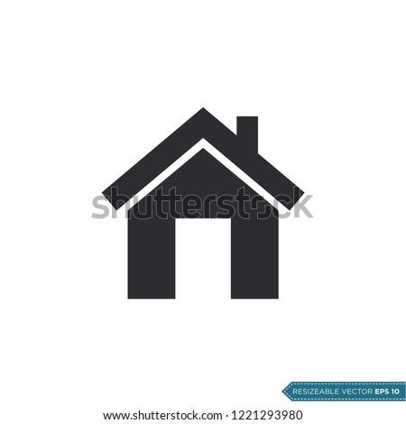 Home Icon Vector Template