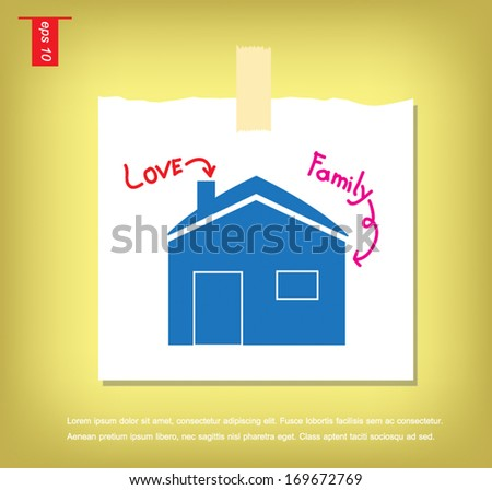 home icons vector  in note