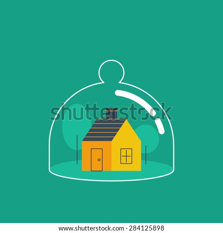 Home insurance concept. Protection from any threat. Сток-фото ©