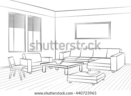 Vector Abstract Room Illustration Download Free Vector Art Stock