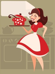 Home made cooking in retro style