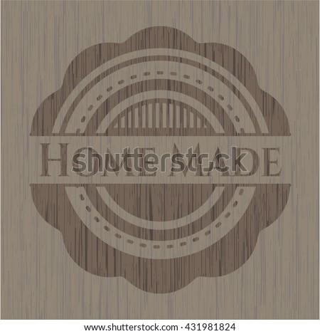 Home Made retro style wood emblem