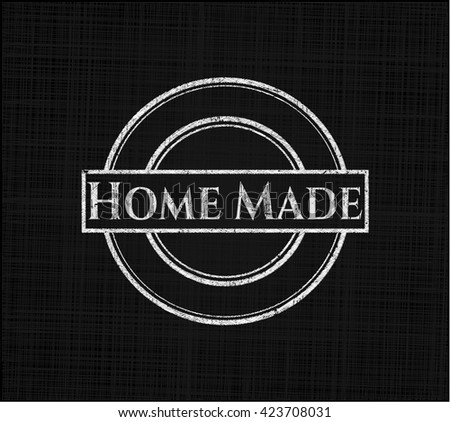 Home Made with chalkboard texture