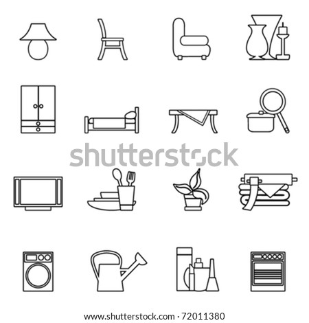 home object icon set
