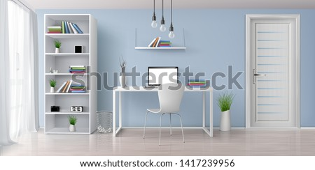 home office sunny room with
