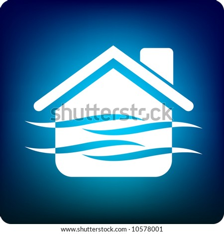 home pool - stock vector