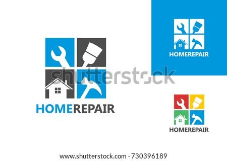 Home Repair Logo Template Design