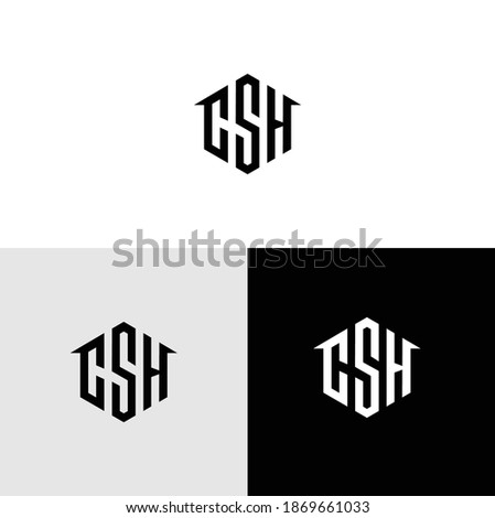Home SCH Logo Modern Vector Stock foto ©