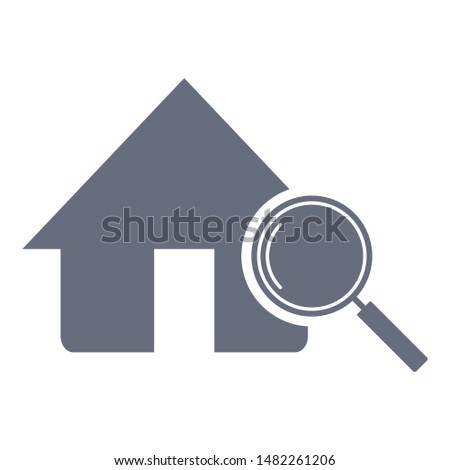 Home search icon. Magnifying glass or search icon. Search icon vector.