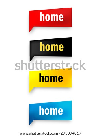 Home speech bubble / web button collection isolated on white #293094017