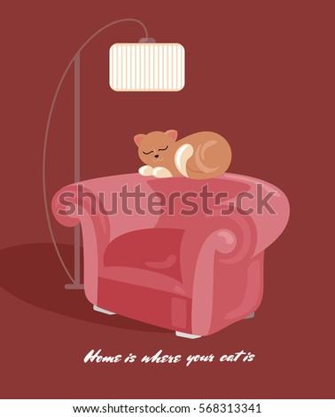 home sweet home card design