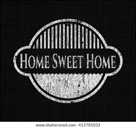 Home Sweet Home chalkboard emblem