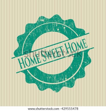 Home Sweet Home grunge seal