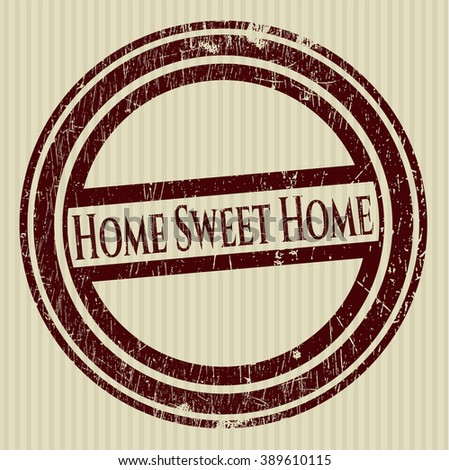 Home Sweet Home grunge stamp