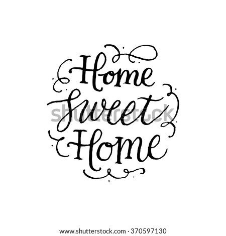 home sweet home handwritten