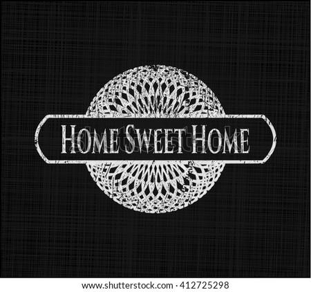 Home Sweet Home on chalkboard