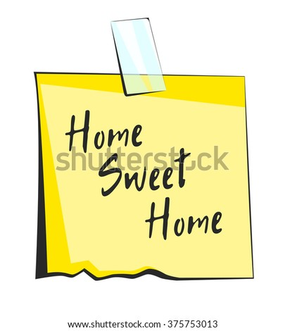 home sweet home paper sticky