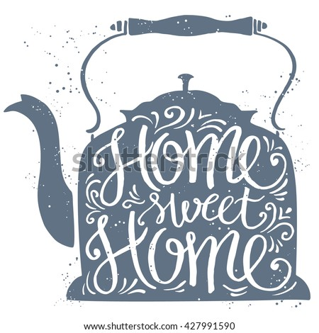 home sweet home typographic
